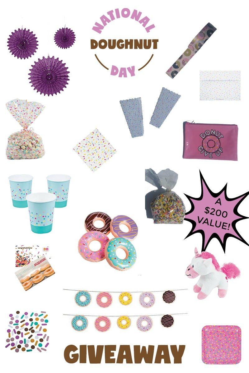 National Doughnut Day Party Blog Hop Giveaway; valued at $200