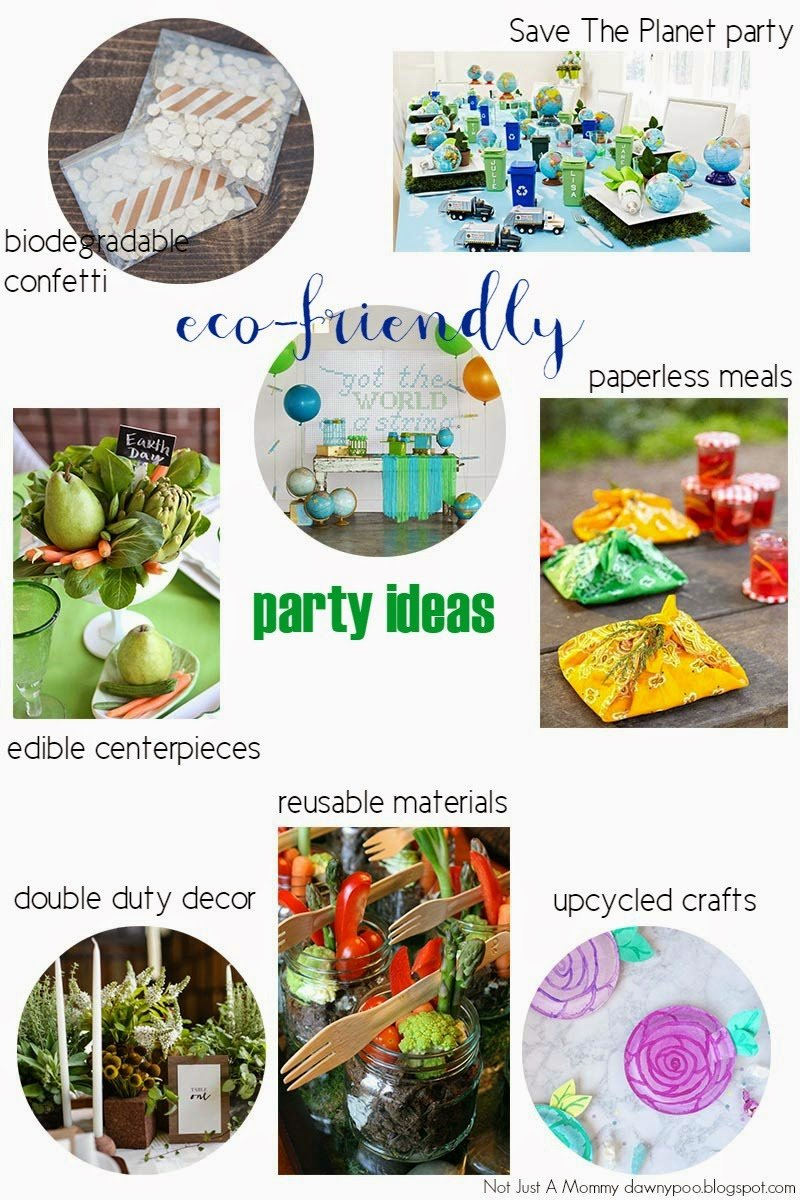 Eco friendly party ideas for earth day revel and glitter Environmentally friendly decorations