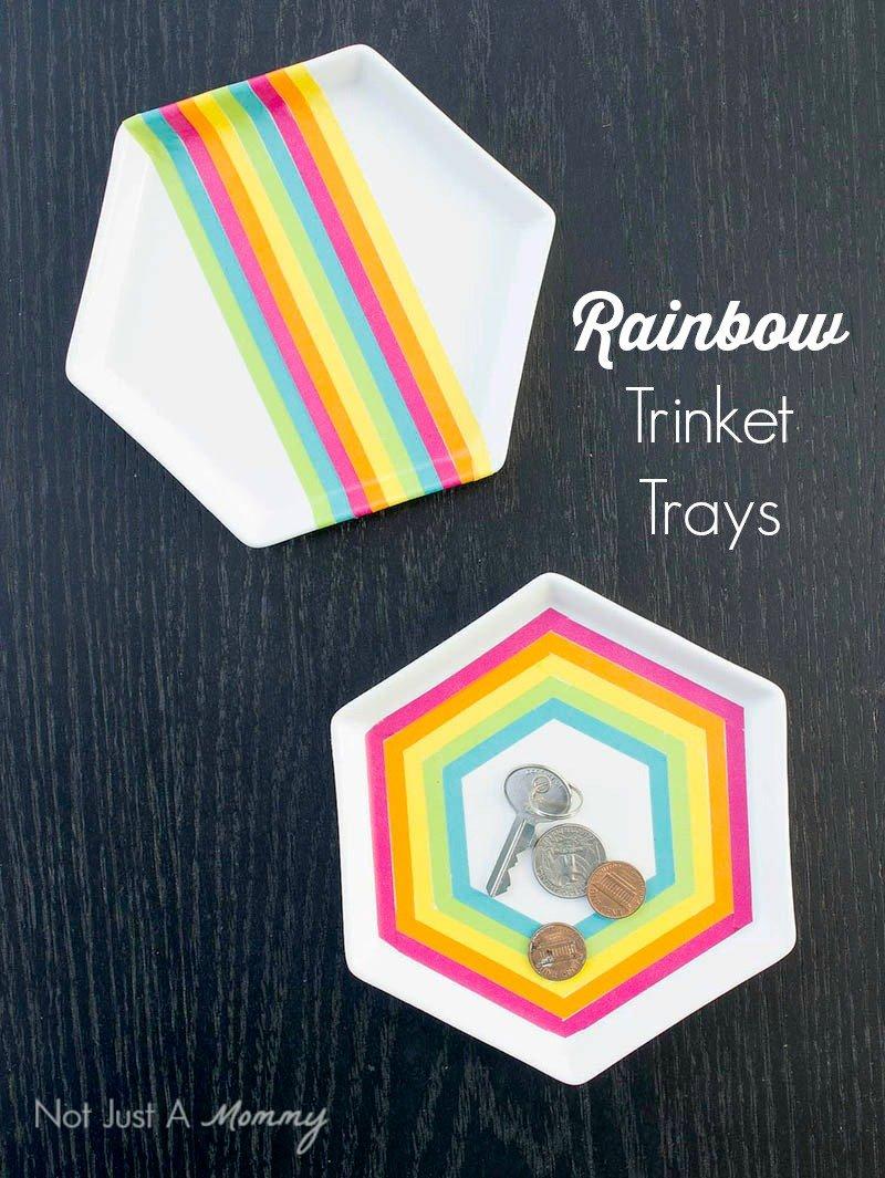 Rainbow Leaf Trinket Tray