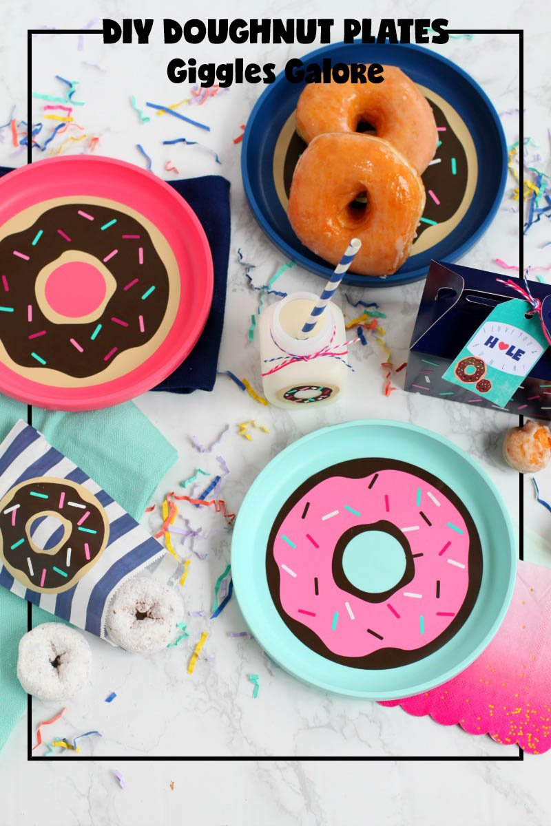 National Doughnut Day Party Blog Hop; DIY doughnut plates