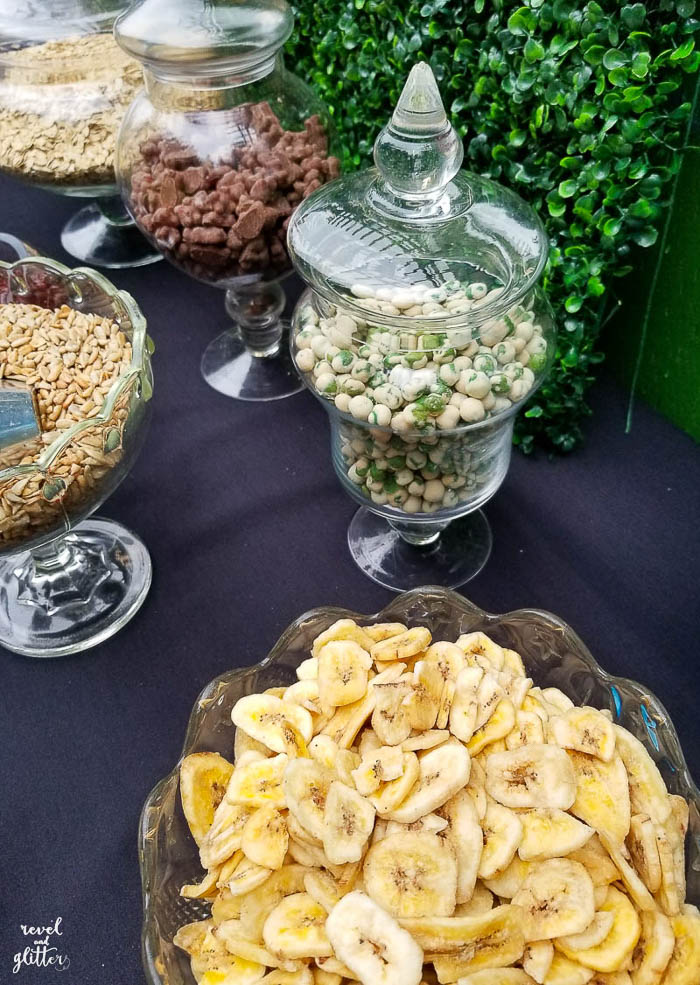 Take It Outside With a Trail Mix Bar For Earth Day; banana chips