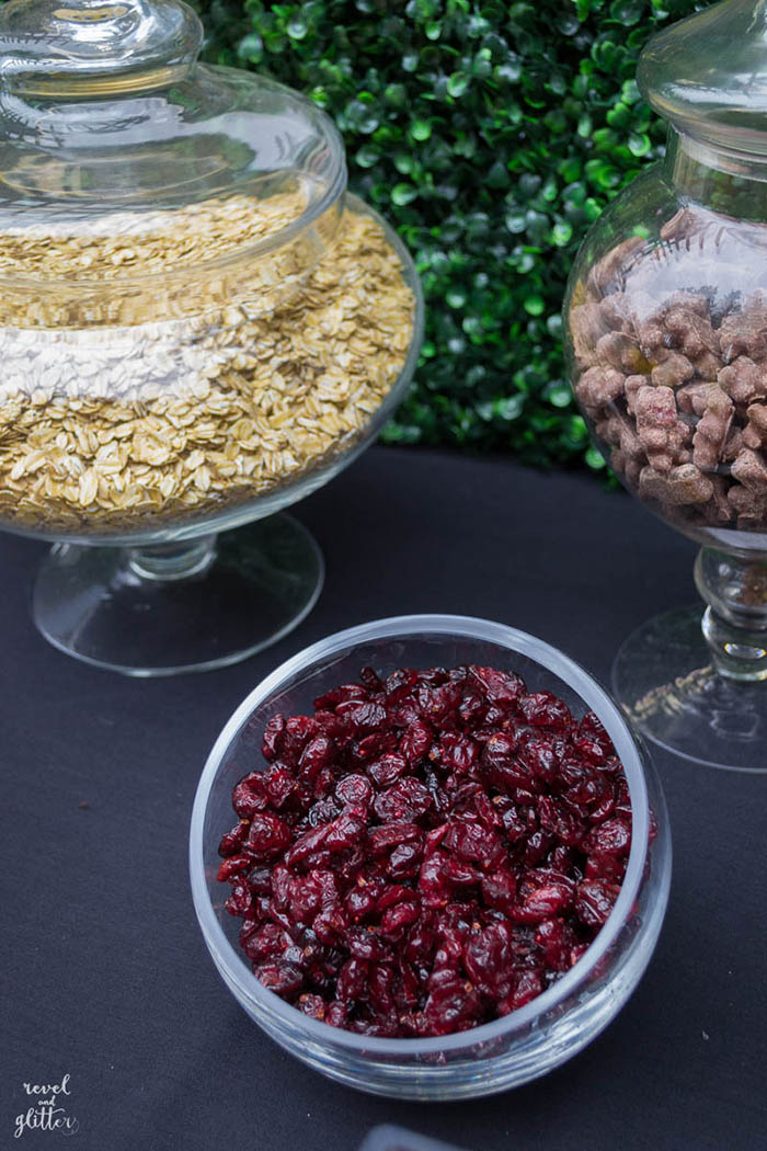 Take It Outside With a Trail Mix Bar For Earth Day; cranberries