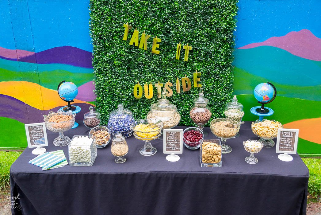 Trail mix bar for Earth Day